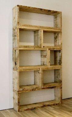 $3 DIY Pallet Bookshelf. Adam has been talking about building a bookshelf. He would love this idea.