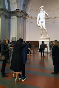 January 27: Selena inside The Accademia Gallery Museum with The Weeknd in Florence, Italy [GP]