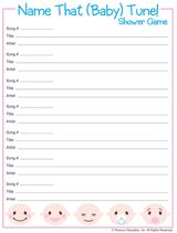 Name That (Baby) Tune! Baby Shower Game - free printable