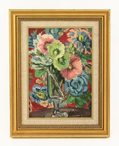 Vanessa Bell (1879-1961), 'FLOWERS IN A GLASS' Signed and dated 1935 l.r., oil on canvas 32 x 23cm Sold for £10,500