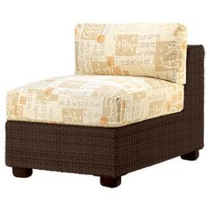 Woodard Montecito Armless Sectional Unit Patio Chair with Cushions
