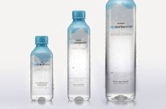 Jeju Pure Water - Package on Behance packaging Water Packaging, Water Branding, Beverage Packaging, Bottle Packaging, Agua Mineral, Mineral Water, Watermelon Smoothies, Water Logo, Water Bottle Design
