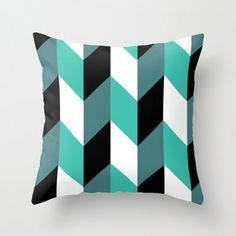 ON SALE Decorative Throw Pillow Cover  Sea by PillowsByElissa, $23.00  decorative pillow throw pillow accent pillow modern mid-century geometric herringbone green blue teal pink white black minimal minimalist st patricks day pillow sofa couch diy chair etsy pillows on sale torrance los angeles south bay