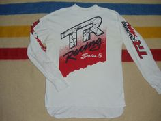 vintage 80s tr racing series 5 shirt jersey long sleeve hondaline 90s moto cross usa dirt bike racing