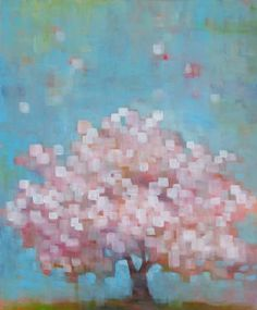 Blossom  Acrylic on Canvas  36 x 30 in.    by Connie Geerts