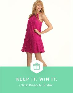 """Keep this """"pretty in pink"""" dress from Maggy London and @keep for a chance to be one of 5 lucky winners!"""