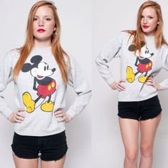 90s Mickey Mouse Crewneck by rumors on Etsy, $48.00