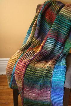 64 Crayons-- BEAUTIFUL!! afghans, throw knit, color combos, knitting patterns, blanket patterns, crayons, 64 crayon, yarn, knit pattern