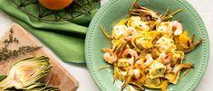 Recipe - Cheese lovers Tortelloni with sauté artichokes, shrimps and orange - Giovanni Rana Rana Pasta, Cheese Lover, Artichokes, Cheese Recipes, How To Cook Pasta, Pasta Salad, Shrimp, Easy Meals, Lovers