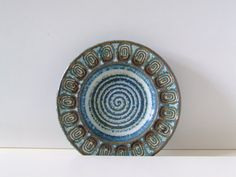 Soholm Denmark Stentoj Bowl - Blue and Brown - Maria Phillippi - Danish Pottery. kr230.00, via Etsy.
