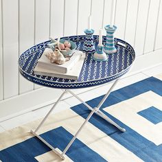Wisteria - Furniture - Side Tables & Pedestals - Coral Reef Tray Table