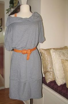 This DIY Dress is made from two mens large Tees... Great tutorial... cute and comfortable!!!