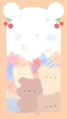 Cute Pastel Wallpaper, Soft Wallpaper, Bear Wallpaper, Aesthetic Pastel Wallpaper, Kawaii Wallpaper, Wallpaper Iphone Cute, Aesthetic Wallpapers, Cute Backgrounds, Wallpaper Backgrounds
