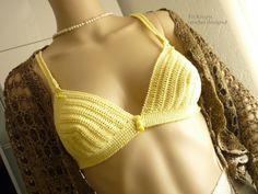 """Croche e trico da Fri, Fri´s crochet and tricot: Top - Soutien """"Rio"""" - em croche - crochet Top- Obe..."""
