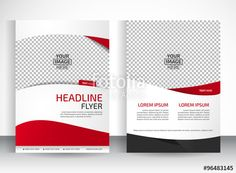Vector: Vector design of the white flyer black red elements and place for…