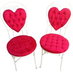Vintage Wrought Iron Heart Shape Chairs  #huntersalley