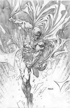 Batman by David Finch Comic Book Artists, Comic Artist, Comic Books Art, Comic Drawing, Drawing Sketches, Drawings, David Finch, Black And White Comics, Batman Tattoo