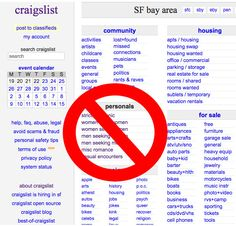 Craigslist Personals has Gone to Bed  #NottinghamEscortsNews