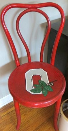 Vintage/Antique upcycled Ohio State Buckeye  by oZdOinGItagaiN, $70.00