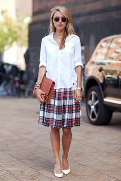 Good skirt - same tartan as your trousers ! Dress Stuart