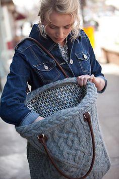 www.SHPULYA.com - Вязаная сумка для прогулок, вязаная спицами