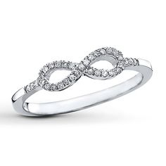 Real Diamond Infinity Ring ct tw Round-cut Sterling Silver - from Kay Jewelers - This is my favorite piece of jewelery (for now). Diamond Jewelry, Jewelry Rings, Fine Jewelry, Gold Jewelry, Oval Diamond, Round Diamonds, Rings For Her, Rose Gold Engagement Ring, Solitaire Engagement