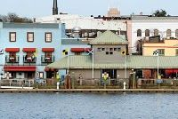 Wilmington, NC-The Blue building on the left is where we got engaged <3 On the far left balcony!