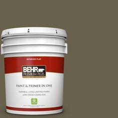 BEHR Premium Plus 5 gal. #hdc-FL14-8 Deer Trail Zero VOC Flat Interior Paint