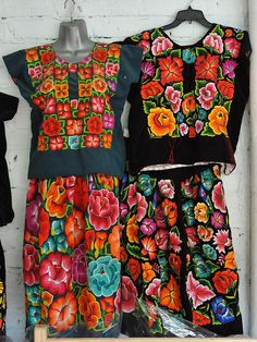 Tehuana Fashions Mexico    These spectacular huipiles and skirts come from the Isthmus of Tehuantepec in Oaxaca where they are worn by local Zapotec women