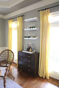 bedroom transformation black/yellow/gray/white | my pinterest