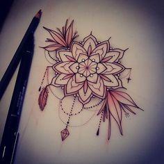 For Louise  #tattoo #design #drawing #art #geometricflower #ladytattooers #tattooworkers