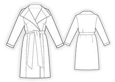 Пальто Двухстороннее  - Выкройка #4179 Выкройки на Ваш размер от компании Lekala - скачать онлайн бесплатно