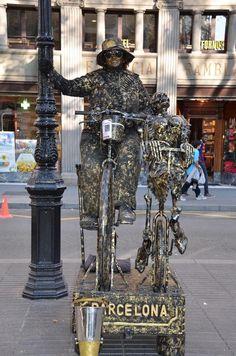 Human Statues at Les Rambles, Barcelona, Spain