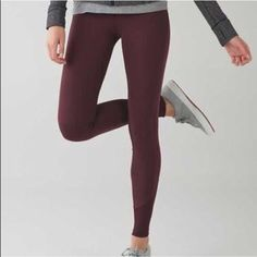 timeless design 4d1e9 527f1 NWT Lululemon Yoga Tight Size 2 Brand New! Zone in tight in wineberry . Made
