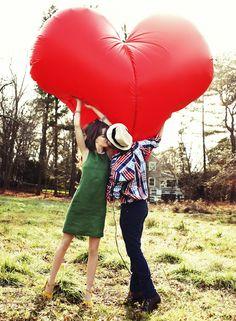 giant heart balloon