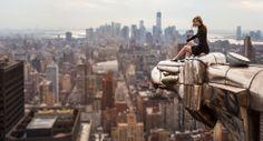 the edge, lucinda grang, buildings, manhattan, new york city, eagles, chrysler building, photography, alex o'loughlin