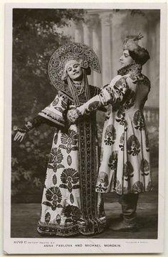 Russian costumes, probably from Boris Godunov. What a kokoshnik!
