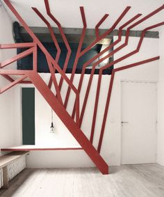 Staircase / domestic installation in Paris, titled Tree Hut, designed by French studio architects. Interior Stairs, Interior And Exterior, Architecture Design, Stairs To Heaven, Escalier Design, Tree Hut, Take The Stairs, Stair Steps, House Stairs