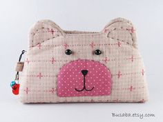 Handmade coin purse  Bear  by Busaba on Etsy, $12.00