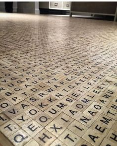 Wouldn't this be a genius floor for a library or a game rooms? Even a wall in a game room??????
