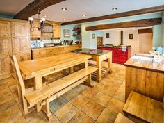 Large dinning area and great kitchen space at Plas Newydd (Ref. 903963)