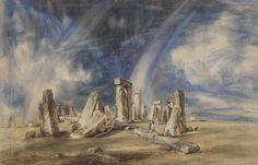 Stonehenge, Watercolour, John Constable, c.1835