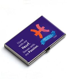 Keep your business cards & credit cards in this Sleek & Sophisticated card holder which represent your Qualities.Pisces are empathetic people, often feeling badly for someone whose life is not going well. They have a happy and vibrant inner life that few get to share or see. They are tremendously dedicated individuals. They are kind, caring individuals who feel everything deeply, even though you would not know it on the surface.
