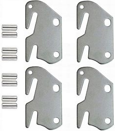 Amazon.com: lusata Wooden Bed to Catch Hook Plates Bed Rail Brackets Hook Plates,Firmly Grasp Intended Replacement for Bed Set of 4: Furniture & Decor Bed Frame Parts, Bed Parts, King Bed Headboard, Headboard And Footboard, Wooden Bed Frames, Wood Beds, Bed Casters, Bed Base, New Beds