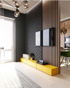 TV panel full of style! I love yellow in the environments and you? For interiors DD ⠀ ⠀ ⠀ ⠀ ⠀ ⠀ ⠀ ⠀ ⠀ ⠀ ⠀ ⠀ ⠀ Check also TV panel full of style! I love yellow in the environments and you? For interiors DD ⠀ ⠀ ⠀ ⠀ ⠀ ⠀ ⠀ ⠀ ⠀ ⠀ ⠀ ⠀ ⠀ Check also Home Design, Decor Interior Design, Interior Design Living Room, Living Room Decor, Interior Decorating, Design Ideas, Interior Modern, Interior Walls, Kitchen Interior