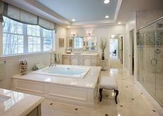 Who needs the spa when you have this master bath? (Hampton home design, NJ)