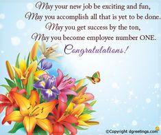 words of congratulations on new job