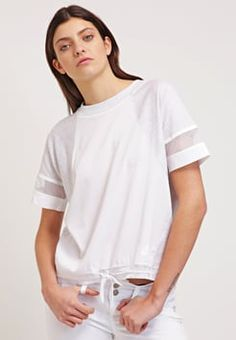 Nike Sportswear - T-Shirt print - birch heather/white