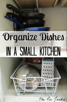 Great Idea for Organizing Dishes in a Small Kitchen