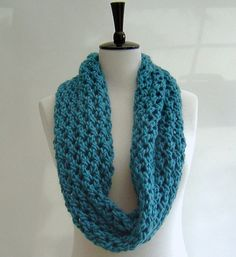 Knitting Pattern for Continuous scarf/cowl - can be worn in multiple ways - single or double, or as a wrap shawl.  PLEASE NOTE: This is not a
